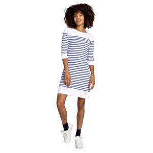 Armor Lux French White & Blue Breton Stripe Dress